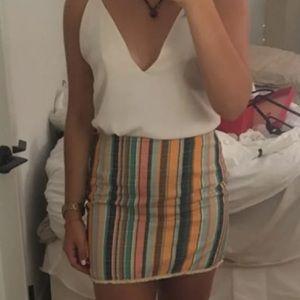 Dresses & Skirts - Multicolor stripe skirt